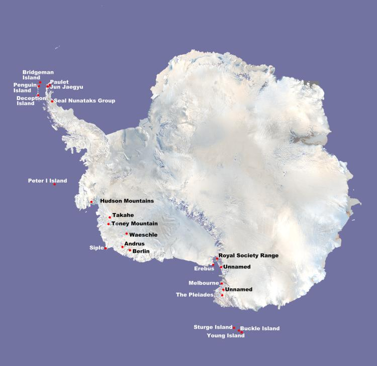 Surprise Theres An Active Volcano Under Antarctic Ice Watts Up - Map active volcanos in us