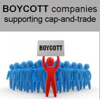 Boycott companies supporting cap & trade
