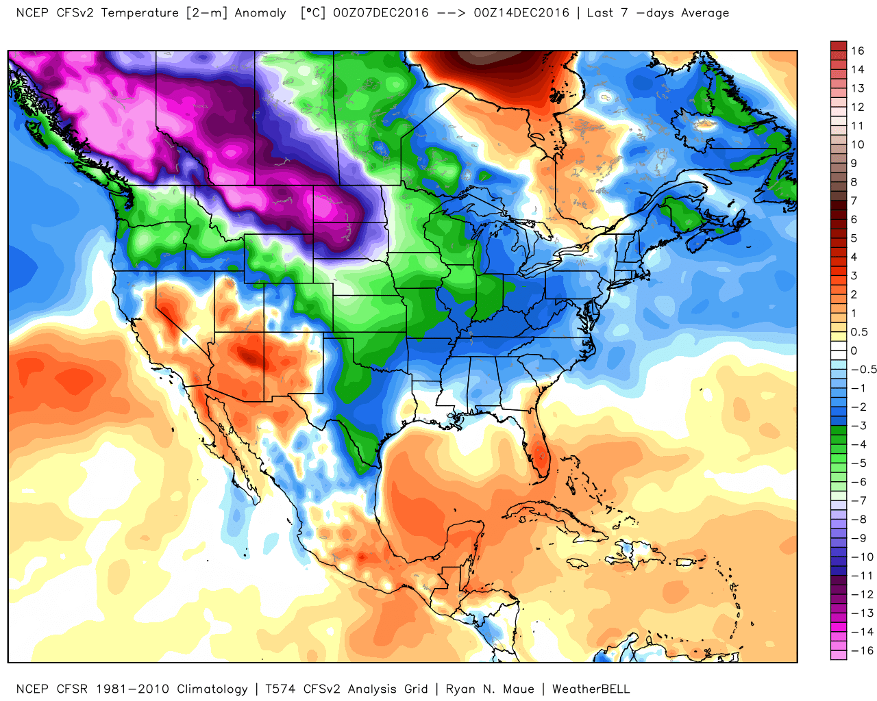 Meteorologist Even With Warm  Winter  US  Year Winter - Us average winter temperature map
