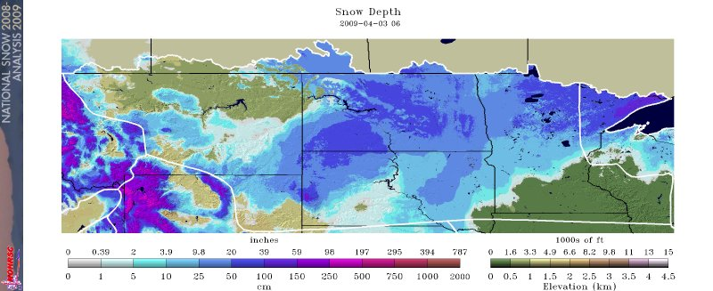 All time Snow Records Tumbling Again for the Second Straight Year snowdepth 20090403 Upper Midwest